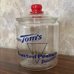 Vintage Tom's Toasted Peanuts Jar